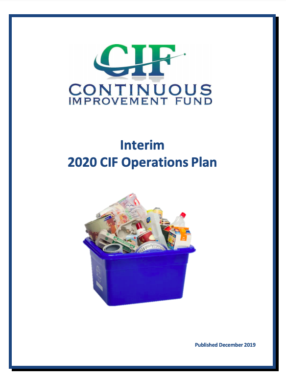 Interim 2020 CIF Operations Plan